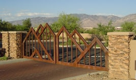 Commercial View Fencing in Tucson - Kaiser Garage Doors & Gates